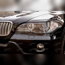 Накладки на передние фары (реснички) BMW X5 (E70) 2007-2010