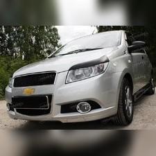 Накладки на передние фары (Реснички) Chevrolet Aveo Хэтчбек 5 дв. 2008-2012