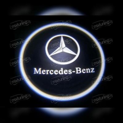 Лазерный проектор в дверь с логотипом (в штатное место)