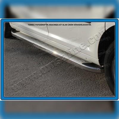 """Комплект алюминиевых порогов с нержавеющим торцом, модель """"MS LINE SILVER"""" стандартная база"""