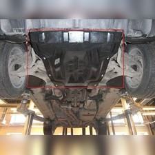 Защита картера двигателя Porsche Cayenne V-все (Композит 10 мм)