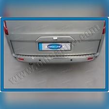 Накладка на задний бампер Ford Tourneo Custom 2013 - нв (шлифованная)