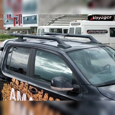 """Рейлинги в комплекте с поперечинами, модель """"MAXPORT"""" (черные)"""
