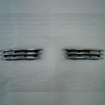 Комлект хромированных вставок в передний бампер