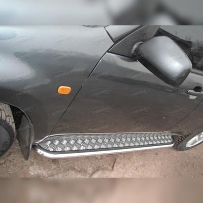 Пороги труба с листом d-43 мм (для 5-ти дверного авто)