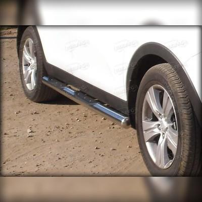 Пороги труба с проступью d-76 мм (для 3-х дверного авто)