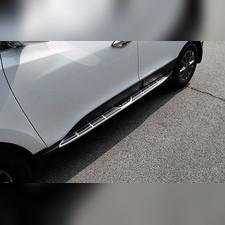 Комплект порогов Hyundai IX-35 2010 - 2015 (копия оригинала - OEM Style)