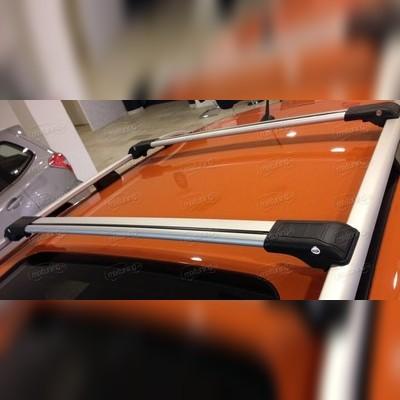 Багажник на крышу, аэродинамический с замком (цвет серый, 110 см)
