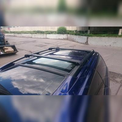 Багажник на крышу, аэродинамический с замком (цвет черный, 125 см)