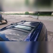 Багажник на крышу, аэродинамический с замком (цвет черный, 120 см)