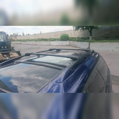 Багажник на крышу, аэродинамический с замком (цвет черный, 110 см)