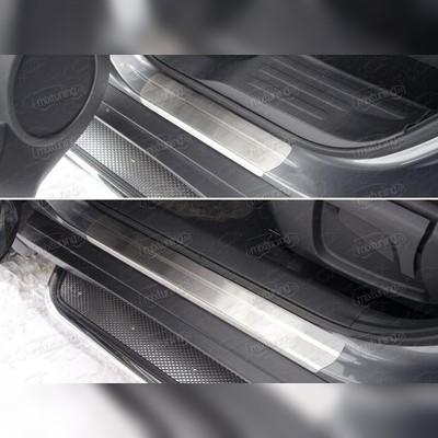 Накладки на пороги (лист полированный без названия марки автомобиля)