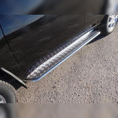 Пороги труба с алюминиевым листо 42.4 мм