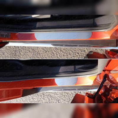 Накладки на пороги (лист шлифованный без названия марки автомобиля)