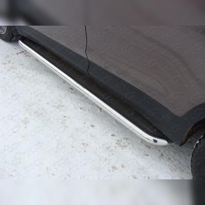 Пороги с площадкой (нержавеющий лист) 60,3 мм