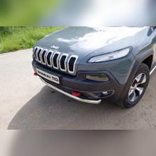 Защита передняя нижняя 60,3 мм Jeep Cherokee 2014 - нв