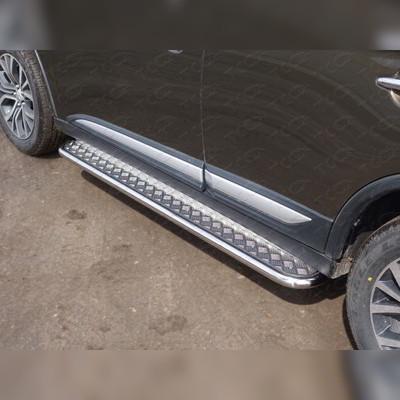 Пороги с площадкой (алюминиевый лист) 42,4 мм