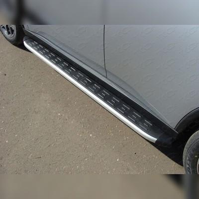 Пороги алюминиевые с пластиковой накладкой