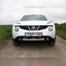 Защита передняя нижняя 75х42 мм Nissan Juke 2010 - 2014