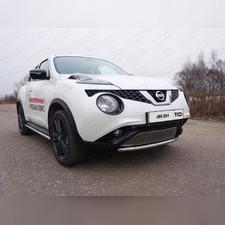Защита передняя нижняя 42,4 мм Nissan Juke 2014 - нв (2WD)