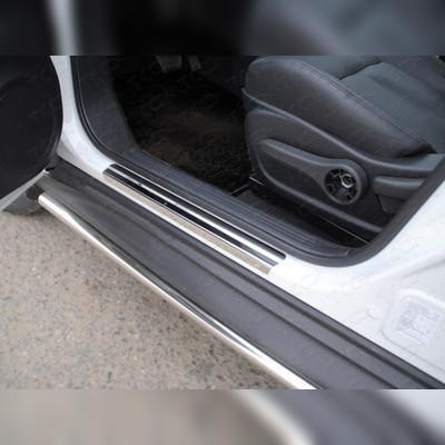 Накладки на пороги (лист зеркальный) (2WD)