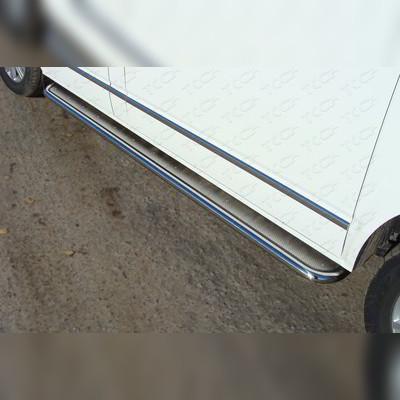 Пороги с площадкой (нержавеющий лист) 42,3 мм (короткая база)