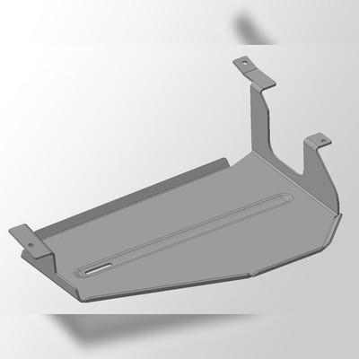 Защита бака правая (алюминий) 4 мм