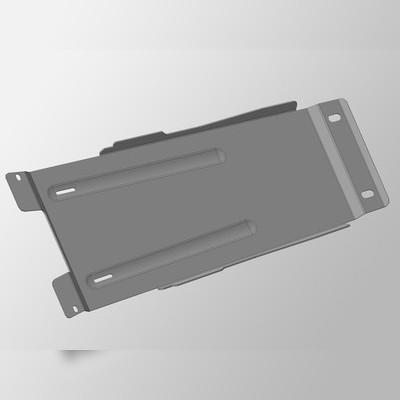 Защита моторного отсека задняя (алюминий) 4 мм