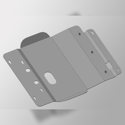 Защита переднего дифференциала (алюминий) 4 мм