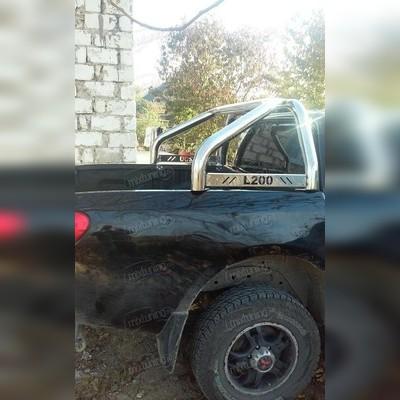 """Защитная дуга в кузов, с логотипом """"L200"""" d70 мм"""
