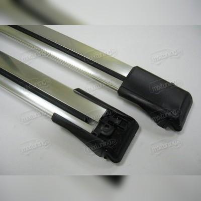 """Аэродинамический багажник """"Wing Bar""""(на рейлинги) серебро"""