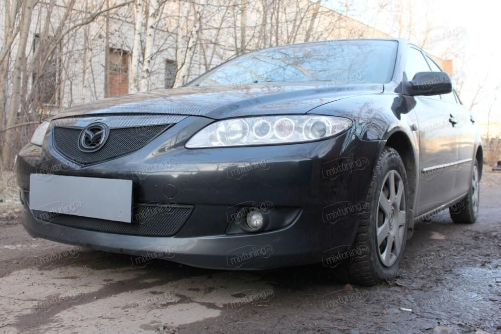 """Защита радиатора нижняя, модель """"Стандарт черная"""" для Mazda Mazda 6 (MAZ6-02.BOT.BLACK) """" MixTuning.ru"""