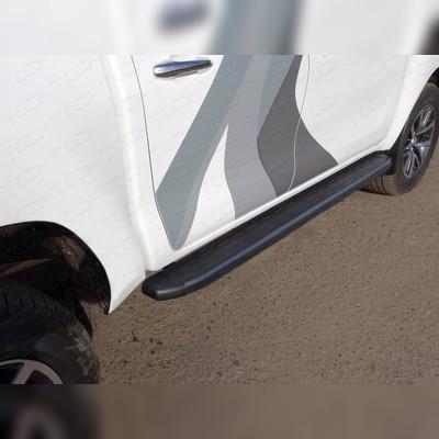 Пороги алюминиевые с пластиковой накладкой (карбон черные) 1920 мм