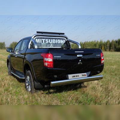 Защитная дуга в кузов, с диодной люстрой и защитой стекла d76.1 мм