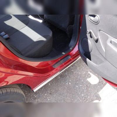 Накладки на задние пороги (лист зеркальный, без названия марки автомобиля) 1 mm