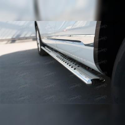 Пороги овальные с проступью 120х60 мм