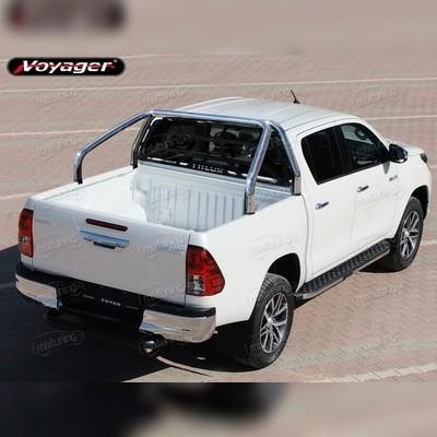 """Защитная дуга в кузов, модель """"Delux"""" с защитой стекла кабины 70 мм"""