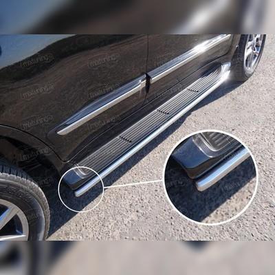 Защита порогов 42,4 мм (аналог Lexus LX570)