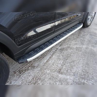 Пороги алюминиевые с пластиковой накладкой (1720 мм)