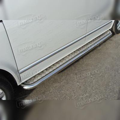Пороги с площадкой (алюминиевый лист) 60,3 мм
