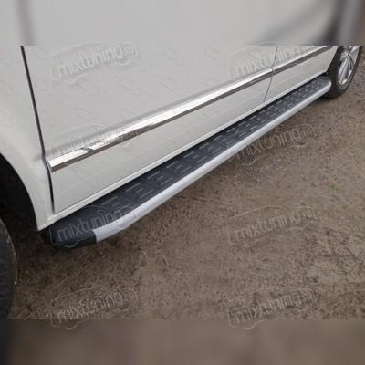 Пороги алюминиевые с пластиковой накладкой (2120 мм)