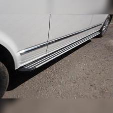 Пороги алюминиевые с резиновыми вставками (Slim Line)
