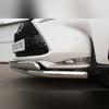 Защита переднего бампера секции (овальная двойная)