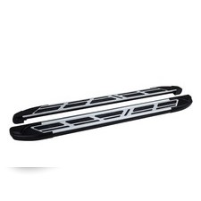 "Пороги, подножки, ступени Mitsubishi L200 2015 - нв, модель ""Corund Silver"""