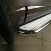Пороги труба с площадкой (алюминиевый лист) d 60.3 мм