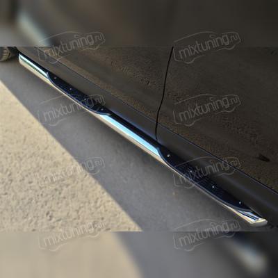 Пороги труба с накладкой 76 мм
