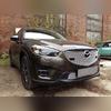 """Защита радиатора верхняя, модель """"Optimal Chrome"""" для авто с штатными парктрониками"""