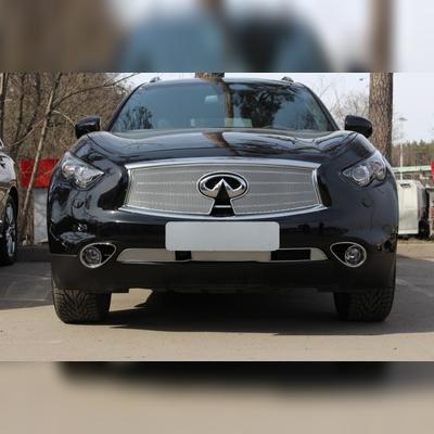"""Защита радиатора нижняя, модель """"PREMIUM CHROME"""" для дизельного автомобиля с отверстием под (FVC)"""