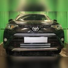 """Защита радиатора нижняя Toyota Rav 4 2015-2019, модель """"Стандарт серебристая"""""""