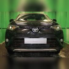 """Защита радиатора нижняя Toyota Rav 4 2015-2019, модель """"Стандарт черная"""""""